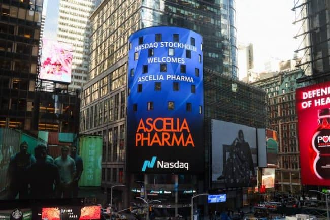 Ascelia Pharma is welcomed to Nasdaq during its IPO